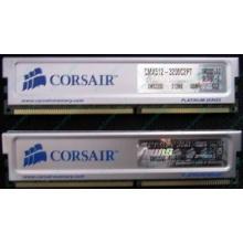 Память 2 шт по 512Mb DDR Corsair XMS3200 CMX512-3200C2PT XMS3202 V5.2 400MHz CL 2.0 0615197-0 Platinum Series (Ессентуки)