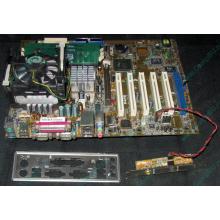 Материнская плата Asus P4PE (FireWire) с процессором Intel Pentium-4 2.4GHz s.478 и памятью 768Mb DDR1 Б/У (Ессентуки)
